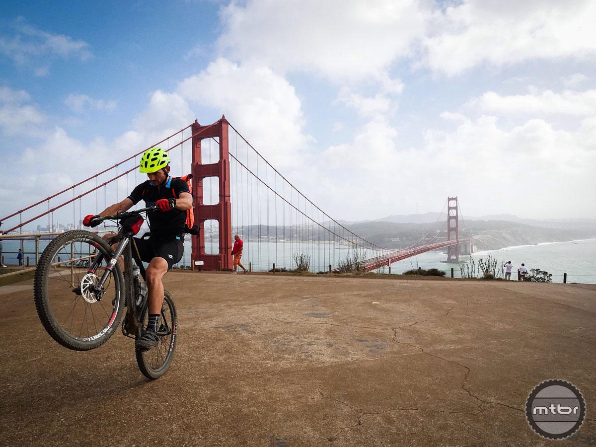 Popping a wheelie in 30mph crosswinds ain't easy. Photo by James Adamson - dropmedia.tv
