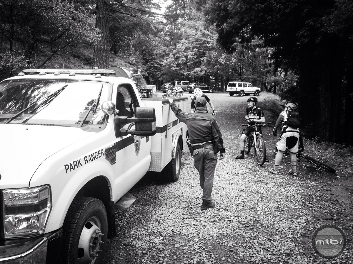 Summing up the mountain biking environment in Marin with one photograph. Photo by James Adamson - dropmedia.tv