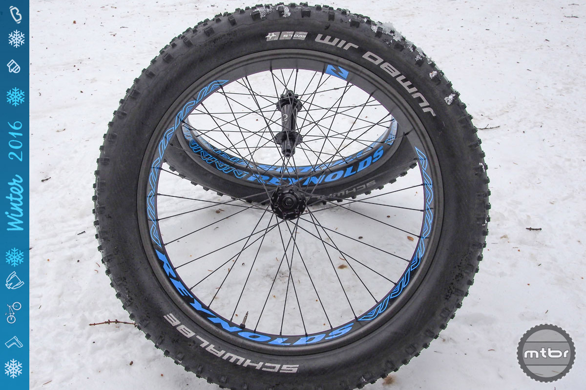 A set of carbon wheels such as the Reynolds Dean is arguably the No. 1 upgrade for a fat bike.