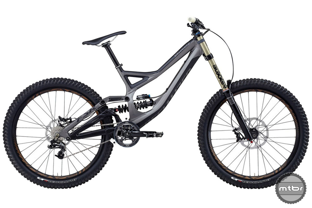 Downhill bikes have around 200mm of supple travel for big drops and absorbing violent impacts at high speeds. Photo courtesy of Art's Cyclery