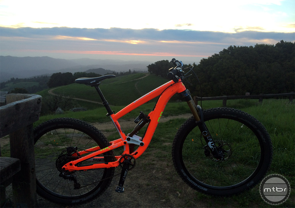 Sunset rides really show off the day-glow orange finish.