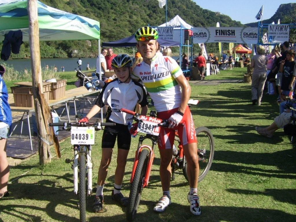 Burry Stander with a young fan