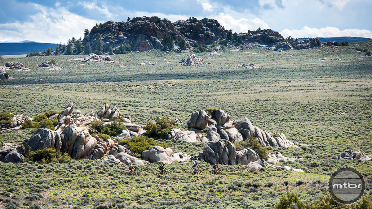 The Hartman Rocks trail system is a sea of sagebrush with lots of flowy and fast that's pocked with technical problems on granite rock. Photo by Dave Kozlowski
