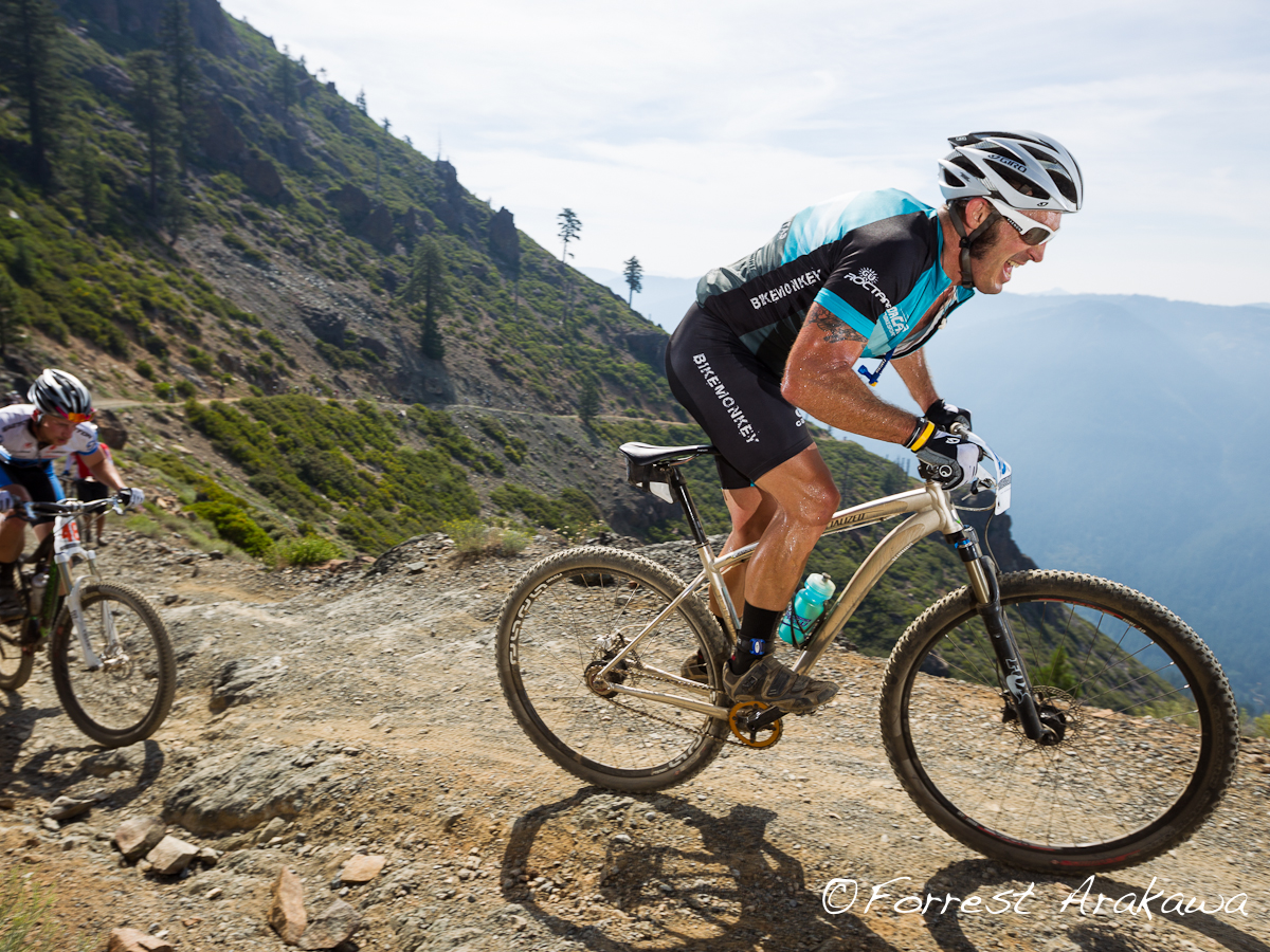 Yuri Hauswald is the angry boss on the 4000 foot Downieville climb