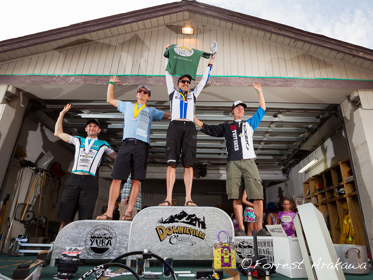 Downieville 2012 Men's All Mountain Podium