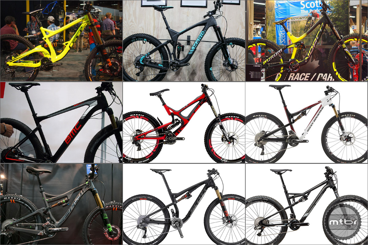 9 Dream Bikes: GT Fury World Cup, Marin Attack Trail Pro, Norco Aurum C7.1, BMC Teamelite 01, Intense M16 Factory, Rocky Mtn Thunderbolt 799 MSL, Pivot Cycles Mach 6 Carbon XTR Di2, Scott Spark 700 Ultimate, Cannondale Habit Hi-Mod Black Inc.