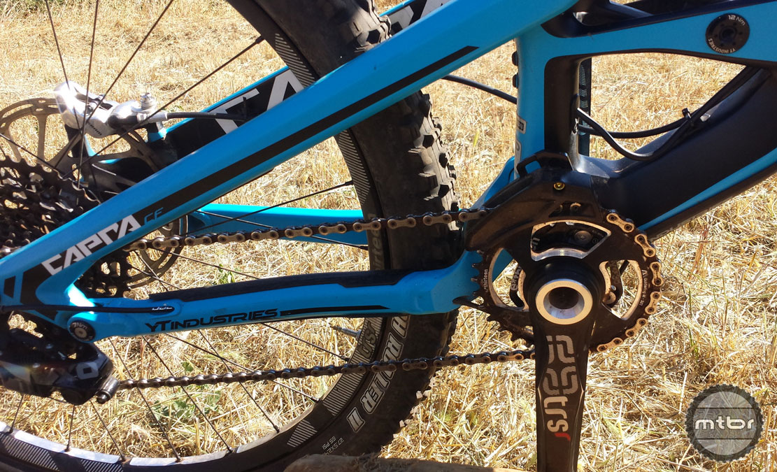 Cable routing and chain guide/crank.