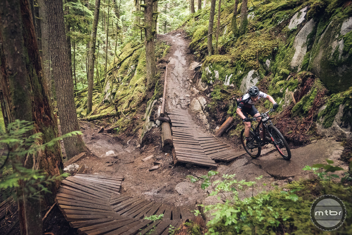 Steep, tight, rocks, wood, wet, fun... pick 6. Photo by Dave Silver