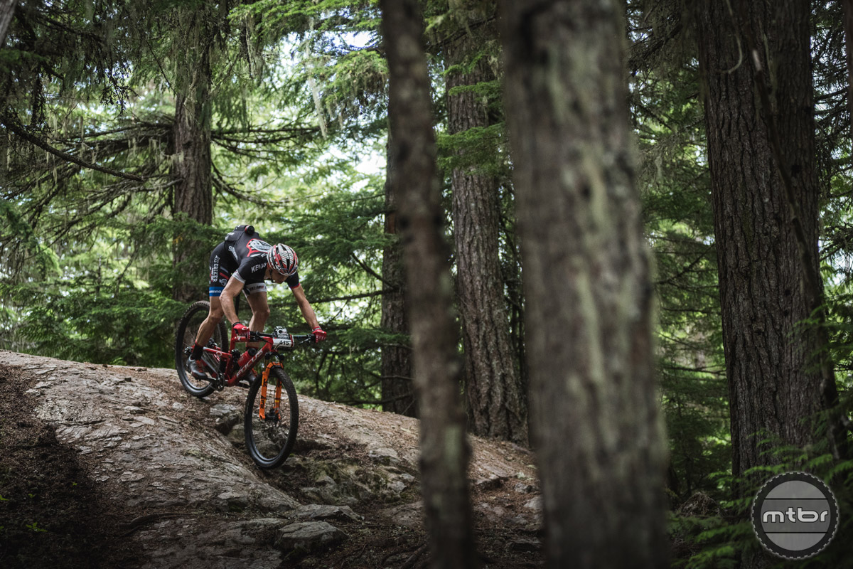 BC Bike Race finds the best trails that every area has to offer. Here's some rock slab from Squamish. Photo by Dave Silver