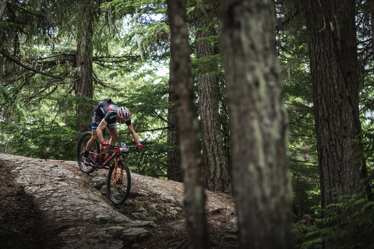 XC riding in Whistler is a lot like enduro everywhere else. Techy, techy, techy...