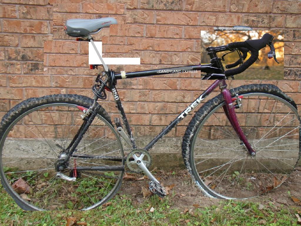 turn an old trek 850 into cyclocross bike. Black Bedroom Furniture Sets. Home Design Ideas