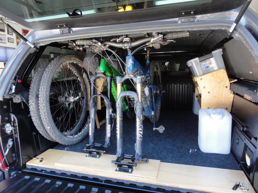 Toyota Tacoma Topper >> Bikes in truck bed with topper- Mtbr.com
