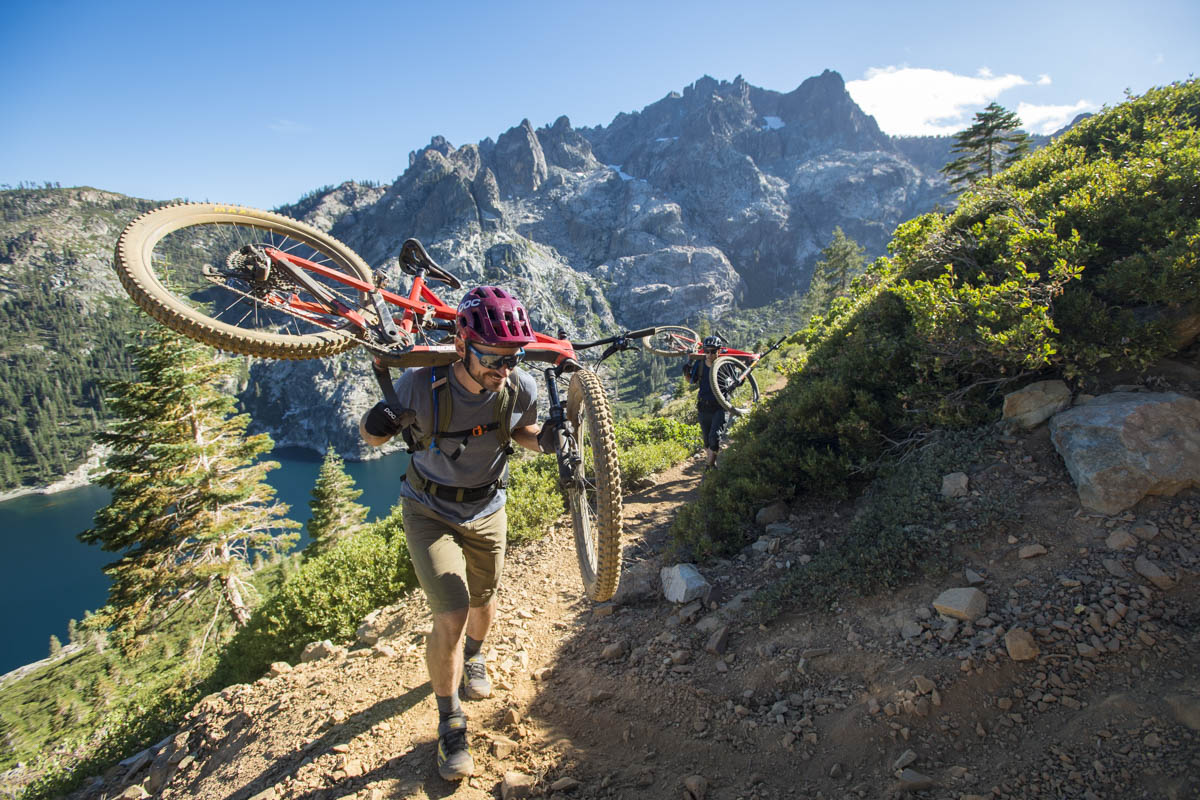 There's some hike-a-bike involved. Photos by Scott Markewitz
