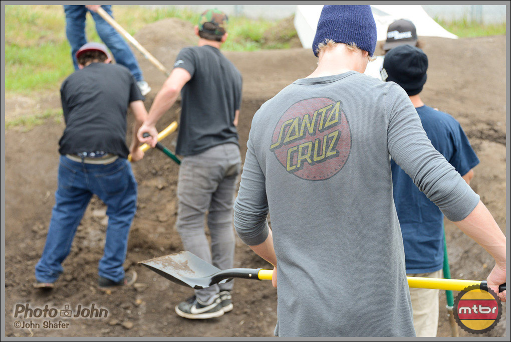 Pitching In With Shovels Before the Post Office Jump Jam