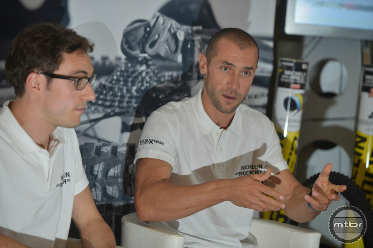 Fabien Barel with Michelin