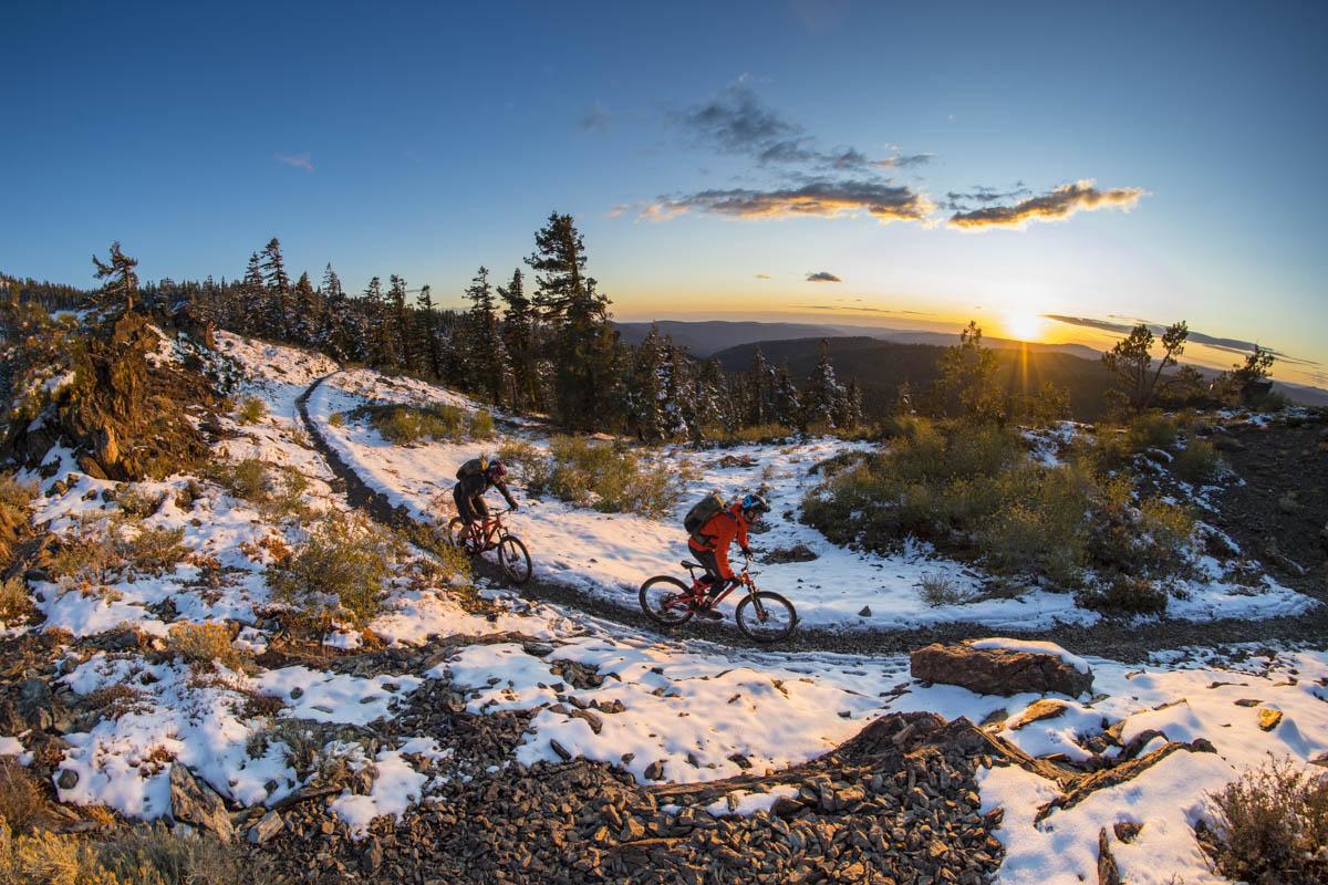 Trail, snow and sky Photos by Scott Markewitz
