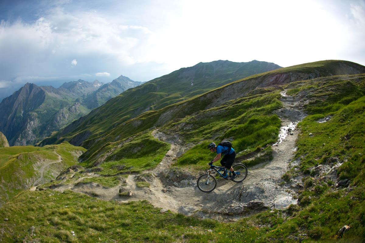Matt Hunter mountain biking in Chamonix, France