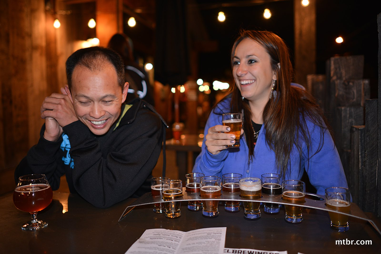 Francis and Sonya at 10 Barrel Brewery