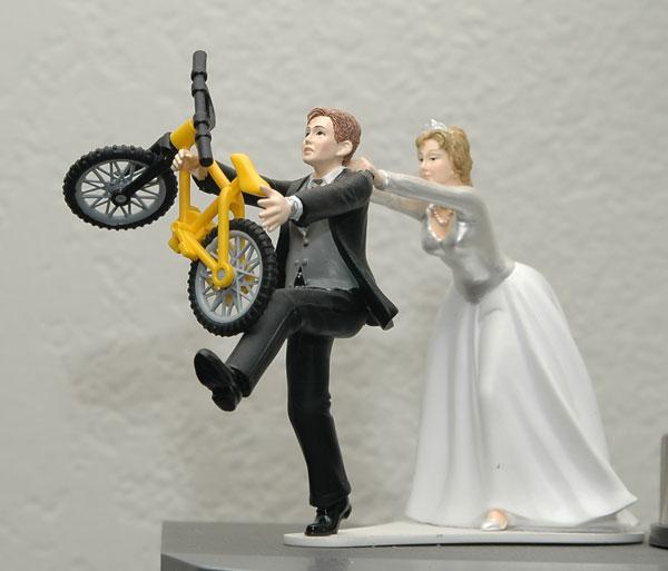 Cycling Theme Wedding Cake Topper Mtbr Com