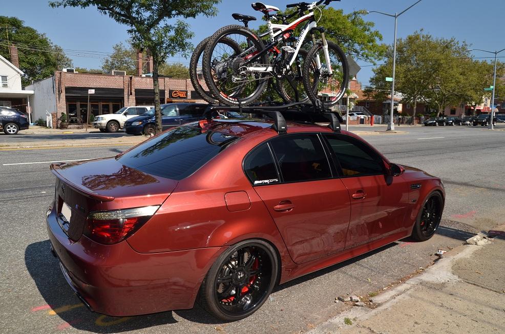 Worksheet. BMW M5 w roof rack and bike carrier Mtbrcom