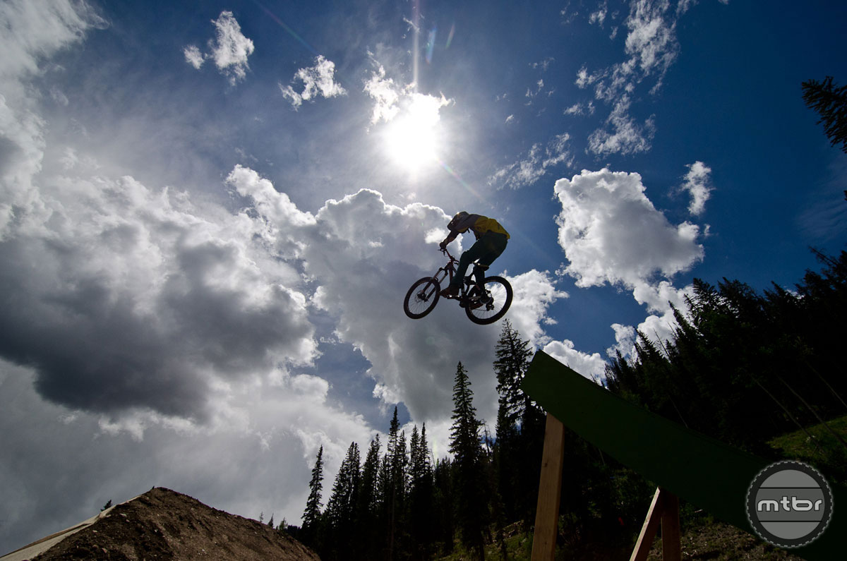 Big air is the name of the game at the Colorado Freeride Festival, held annually at Winter Park's Trestle Bike Park.