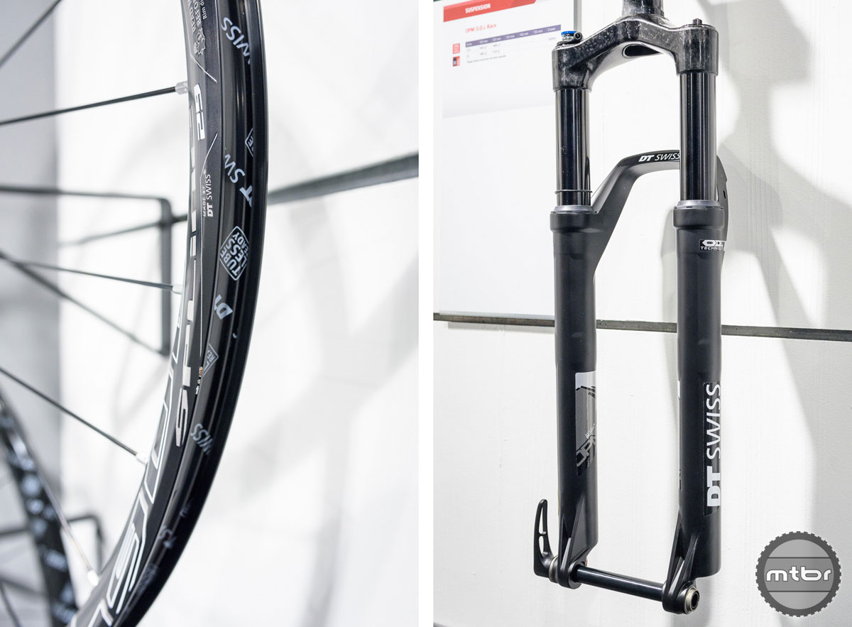The 1900 Spline wheels (left) have gotten a total makeover. The OPM O.D.L. Race fork (right) offer everything that you can expect of a high performance front fork.