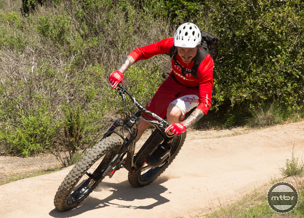 Duncan Riffle with Guide Brakes on a Borealis Fat Bike