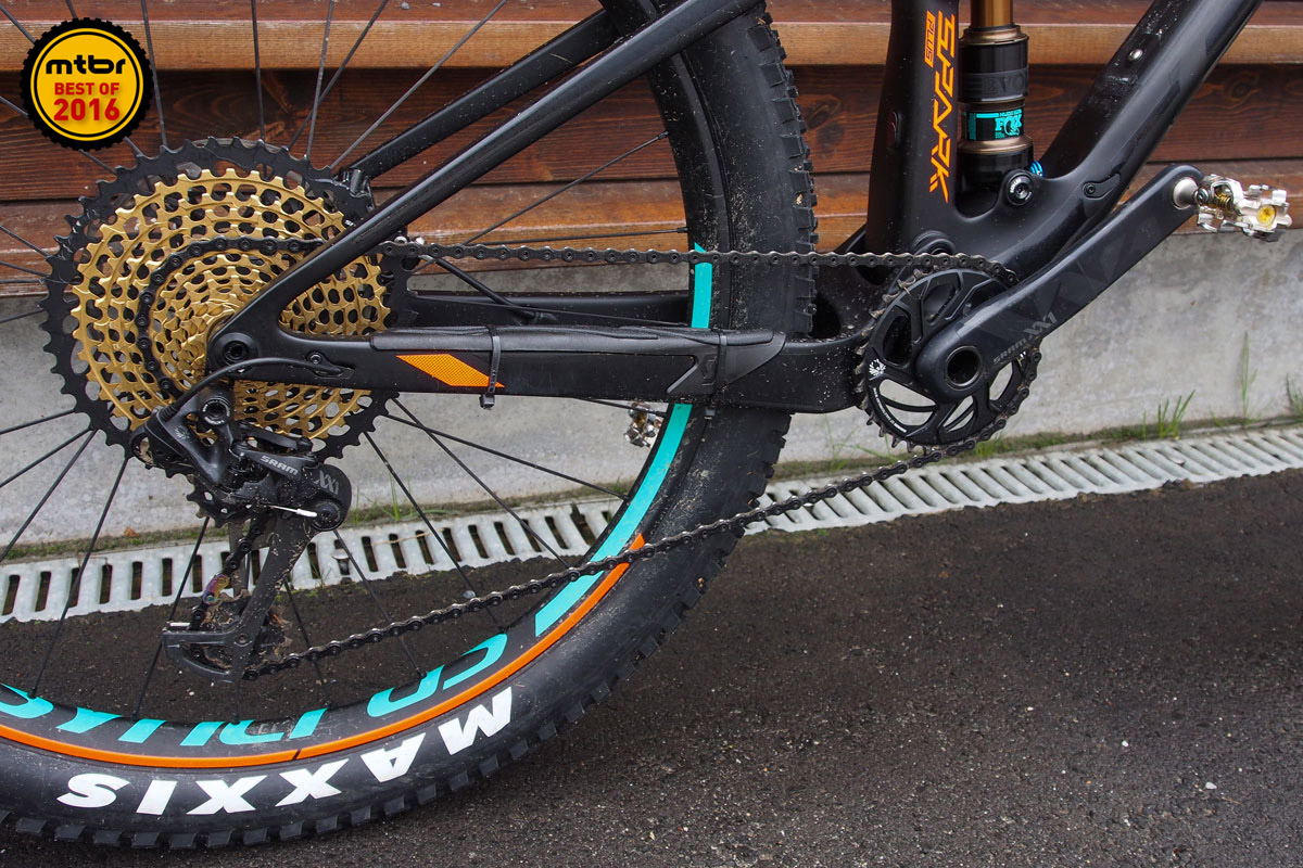 With SRAM Eagle's whopping 500% gear range, there really is no longer any need for a front derailleur.