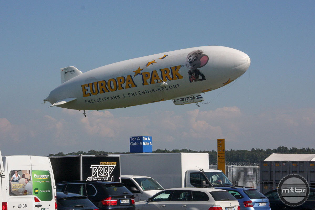 Messe  Friedrichshafen is home to a giant convention center — and a blimp garage.