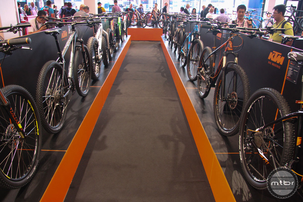 Most North Americans think of KTM as a motorcycle brand, but they also have a massive bike line up mountain bikes.