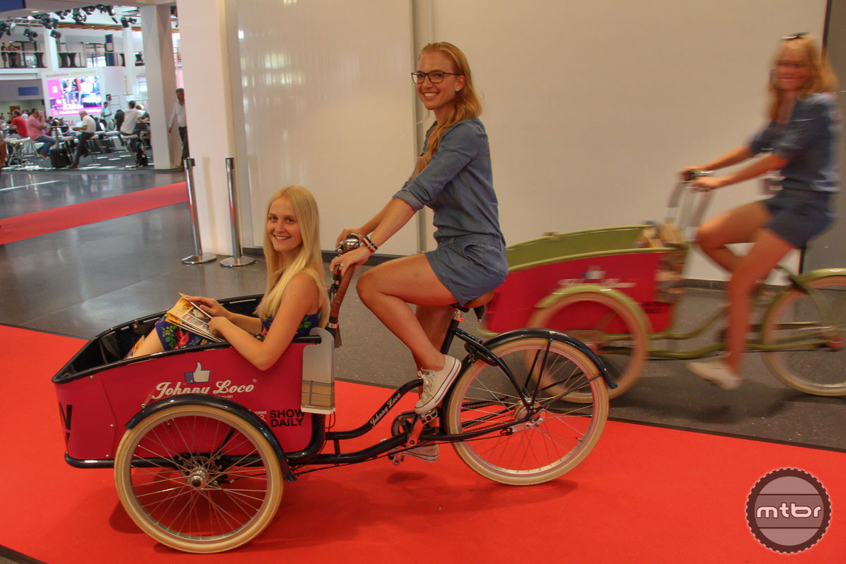 Delivering the Eurobike Show Daily is done by bike of course.
