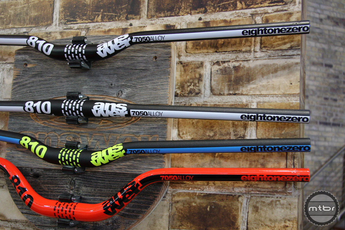Answer has lengthened its DH bar to 810mm with a variety of rise and color options.
