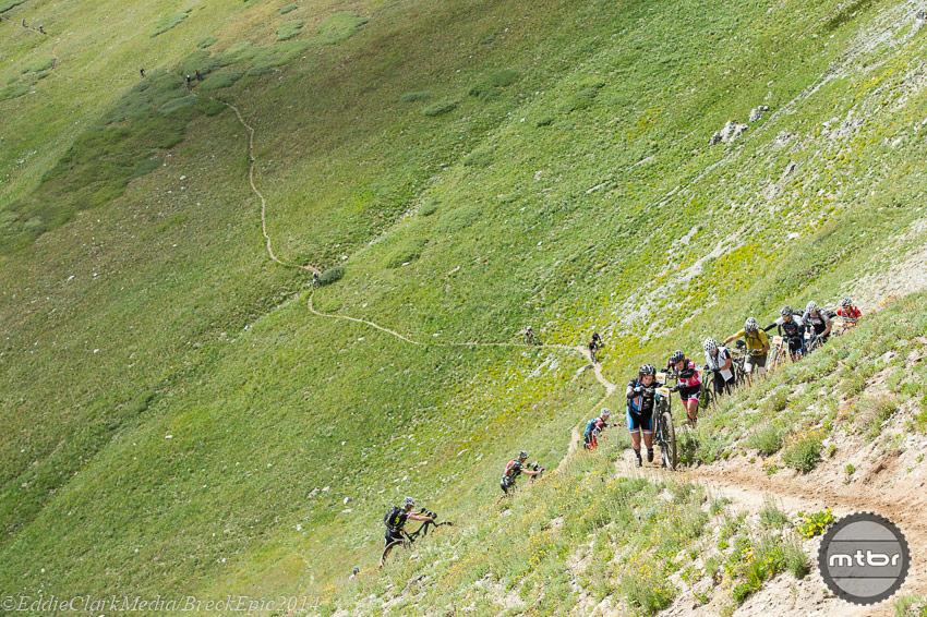 Breck Epic Stage 5 Laureen Coffelt and Timari Pruis.