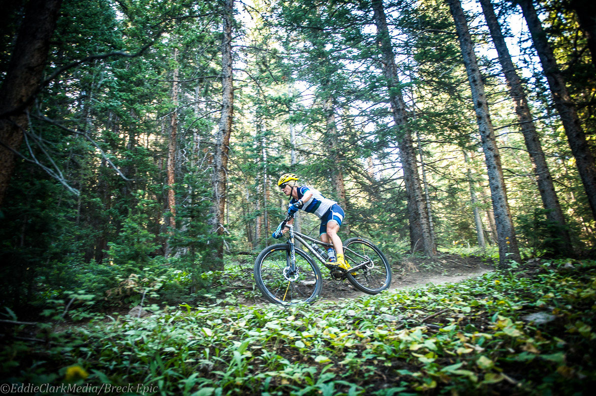 Six Day Open Female, Kelly Boniface looking strong in the 6 Day Open Women's race finishing third on stage one. Photo courtesy Breck Epic/Eddie Clark