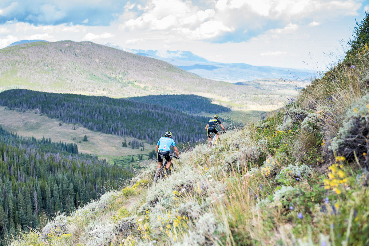 Stunning views as World Champion Lakata chases. Photo courtesy Breck Epic/Eddie Clark