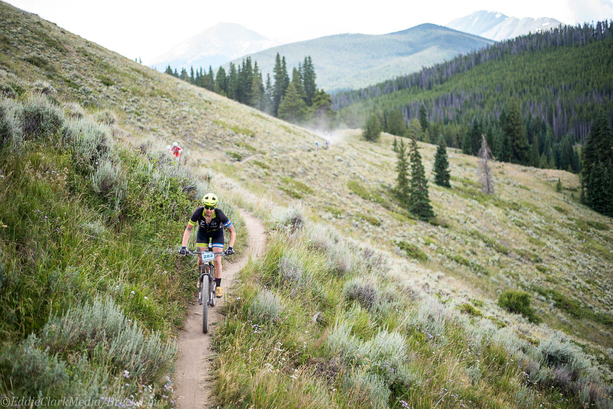 92fifty rider Andrea Wilson. Photo courtesy Breck Epic/Eddie Clark
