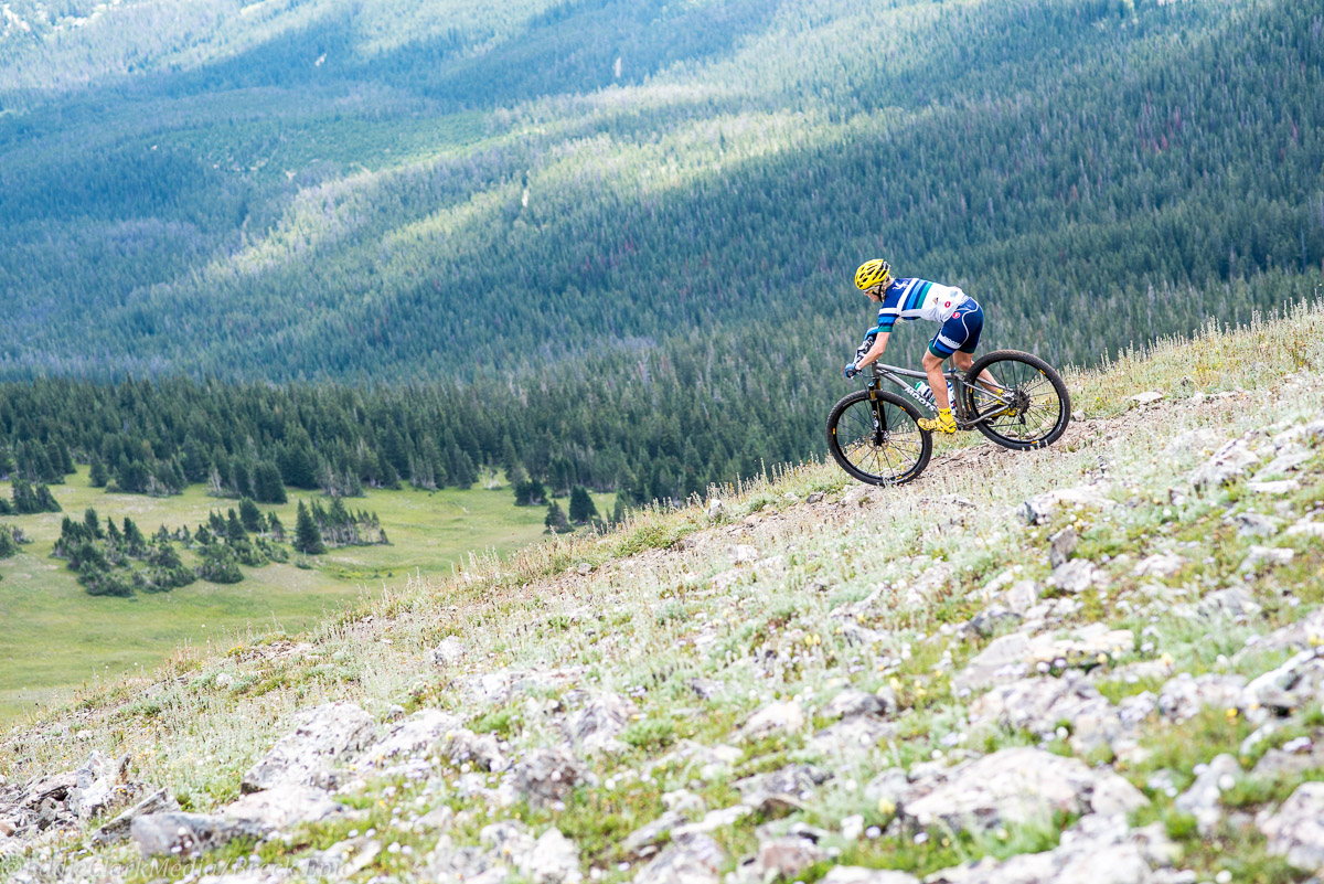Going down. For a long, long time. Photo courtesy Breck Epic/Eddie Clark