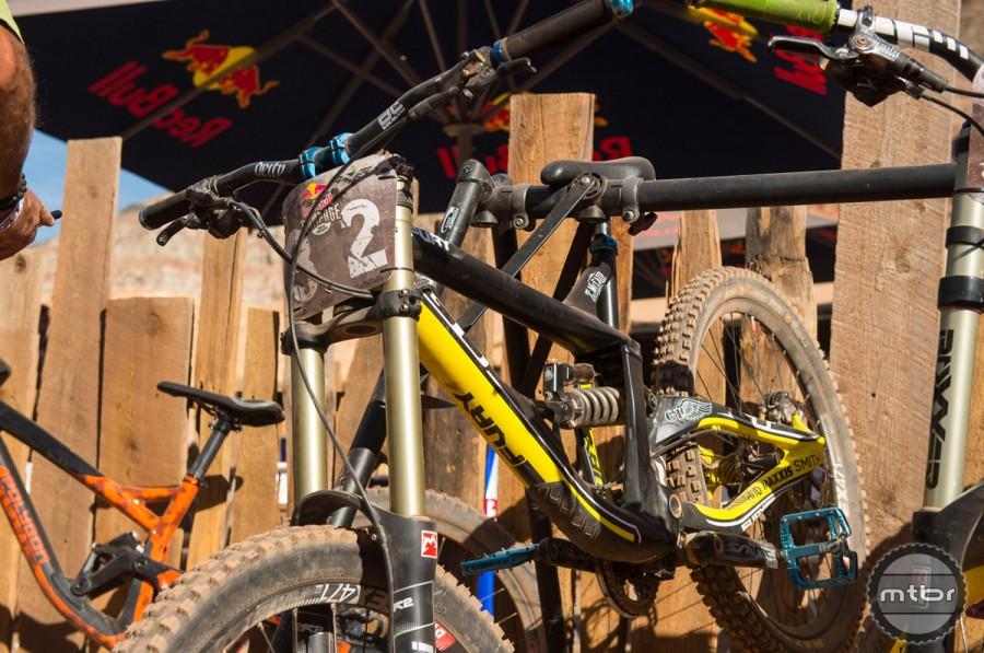 Tyler McCaul's 26″ GT Fury with full Marzzochi suspension and his signature T-Mac pedals. Photo by Eddie Clark/EddieClarkMedia.com