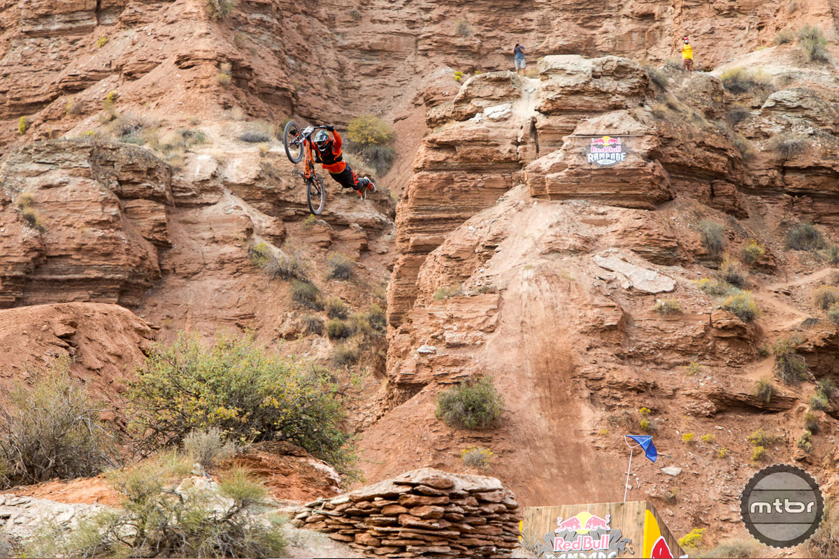 Sam Reynolds throwing a huge superman over the canyon gap. Photo by Eddie Clark/EddieClarkMedia.com