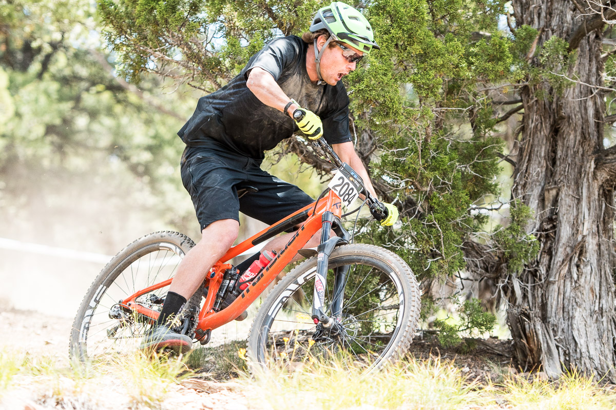 Alex McGuinnes came into the race as a bit of a dark horse, but also hot on a winning streak after taking the Colorado State Super-D Championship that was held the previous week in Eagle. If he looks a little dirty, it's because he hit the deck in stage 2. He was on a winning pace, and the crash certainly motivated him to dig a bit deeper for the rest of the stage, and really put it on the line in stage 3 to take the win by an 11 second margin over second placed Adam Craig, with MTB legend Brian Lopes in third.