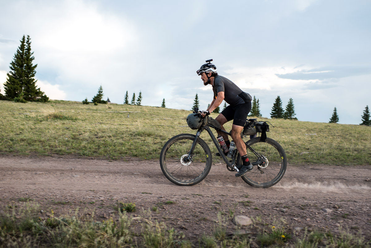 Fast Cross Country Tour On Bike