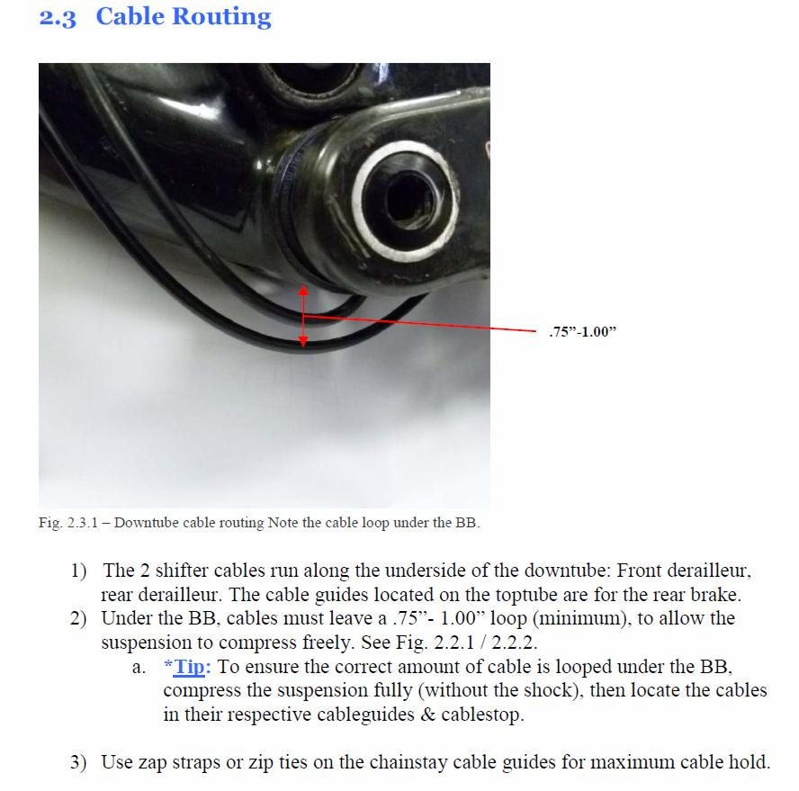 2012 Element 70 MSL cable routing and other questions- Mtbr com