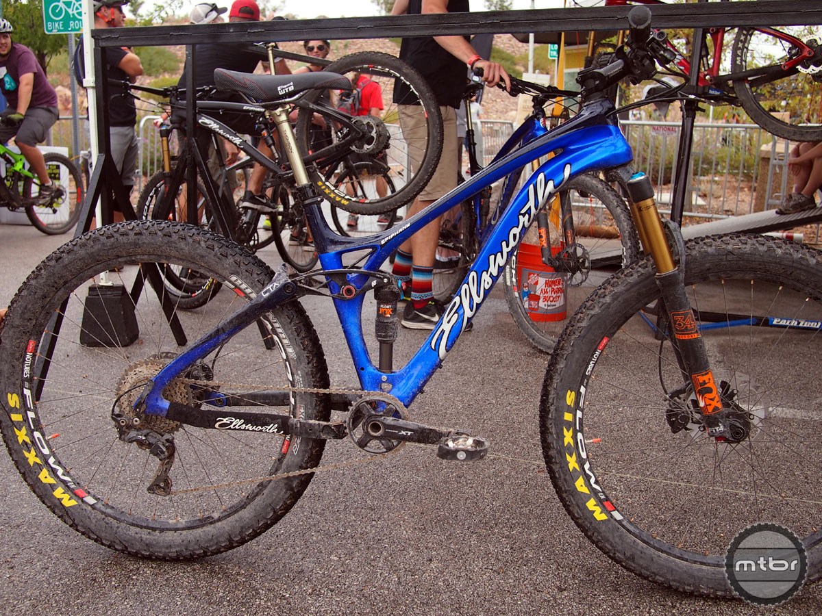 The Epiphany 27.5+ is a full suspension mountain bike with 120mm of ICT rear travel and a carbon frame.