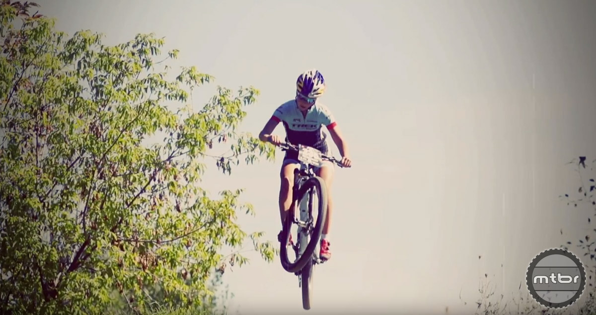 Emily rides for Trek Factory Racing Mountain Bike team.