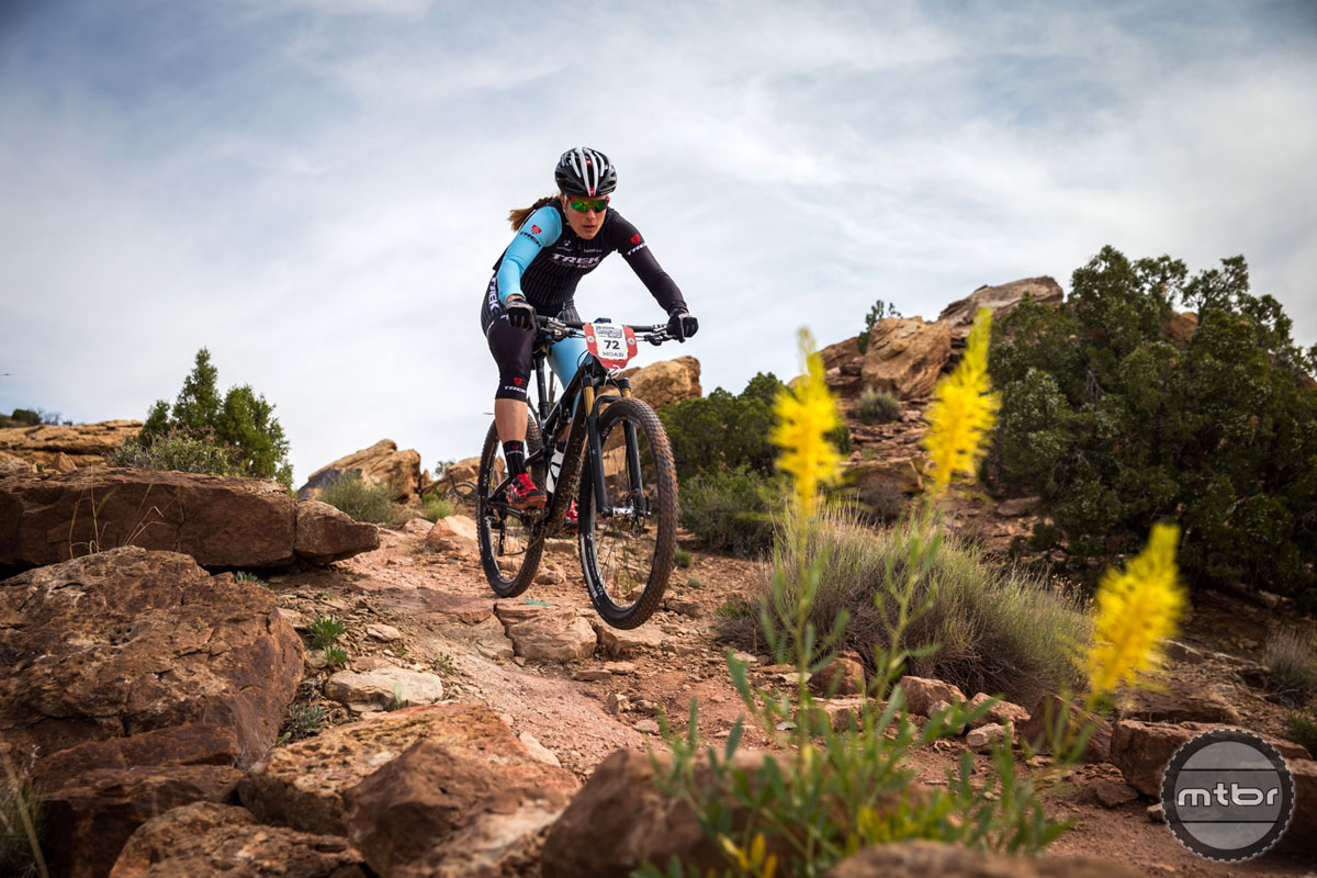 Cyclocross star Katie Compton proves she's no one-trick pony. Photo courtesy of Scott Enduro Cup