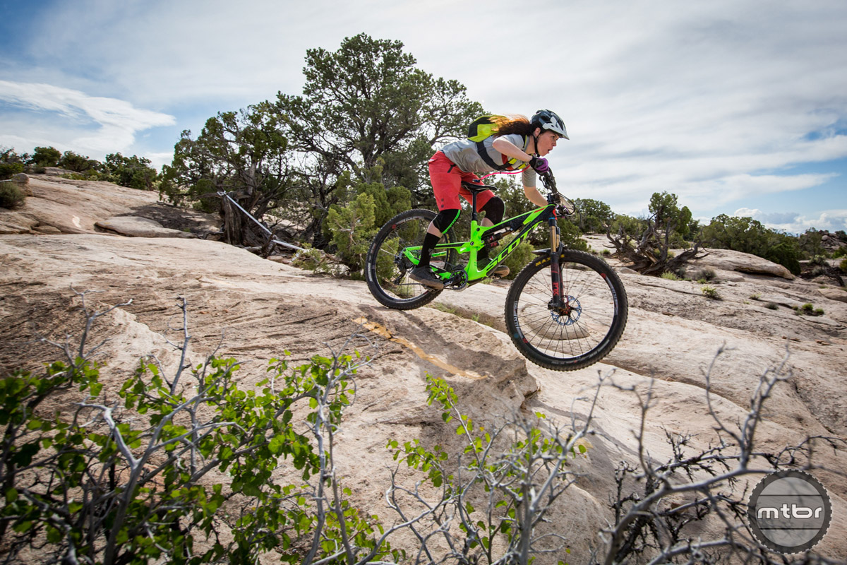 Dropping in hot in Moab.