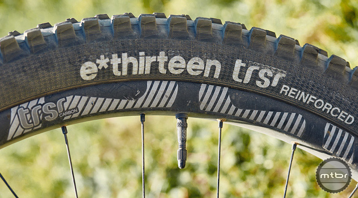 The reinforced sidewall reduces the chance of getting stranded on the side of the trail with a slashed tire.