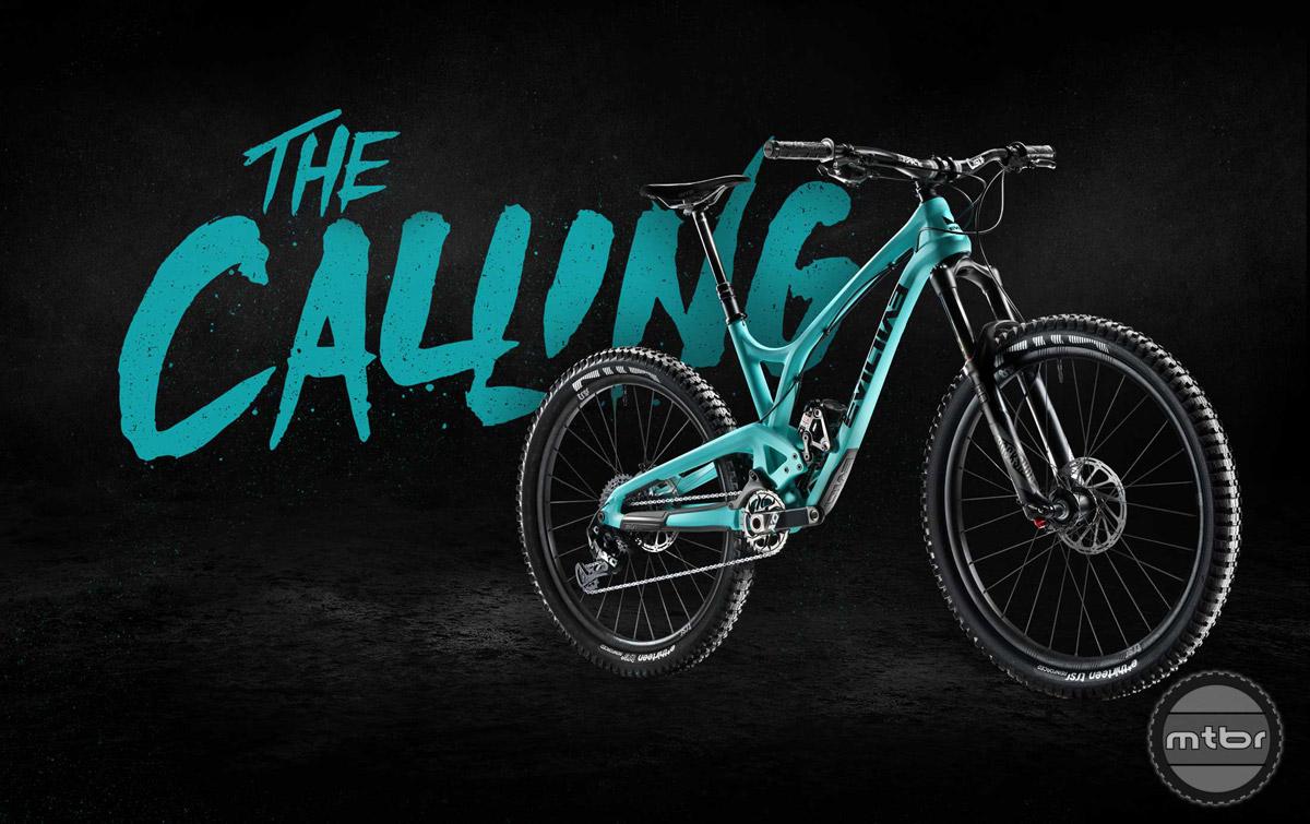 "Evil describes the Calling as a bike shaped skateboard. We call it a 130mm travel 27.5"" trail bike."