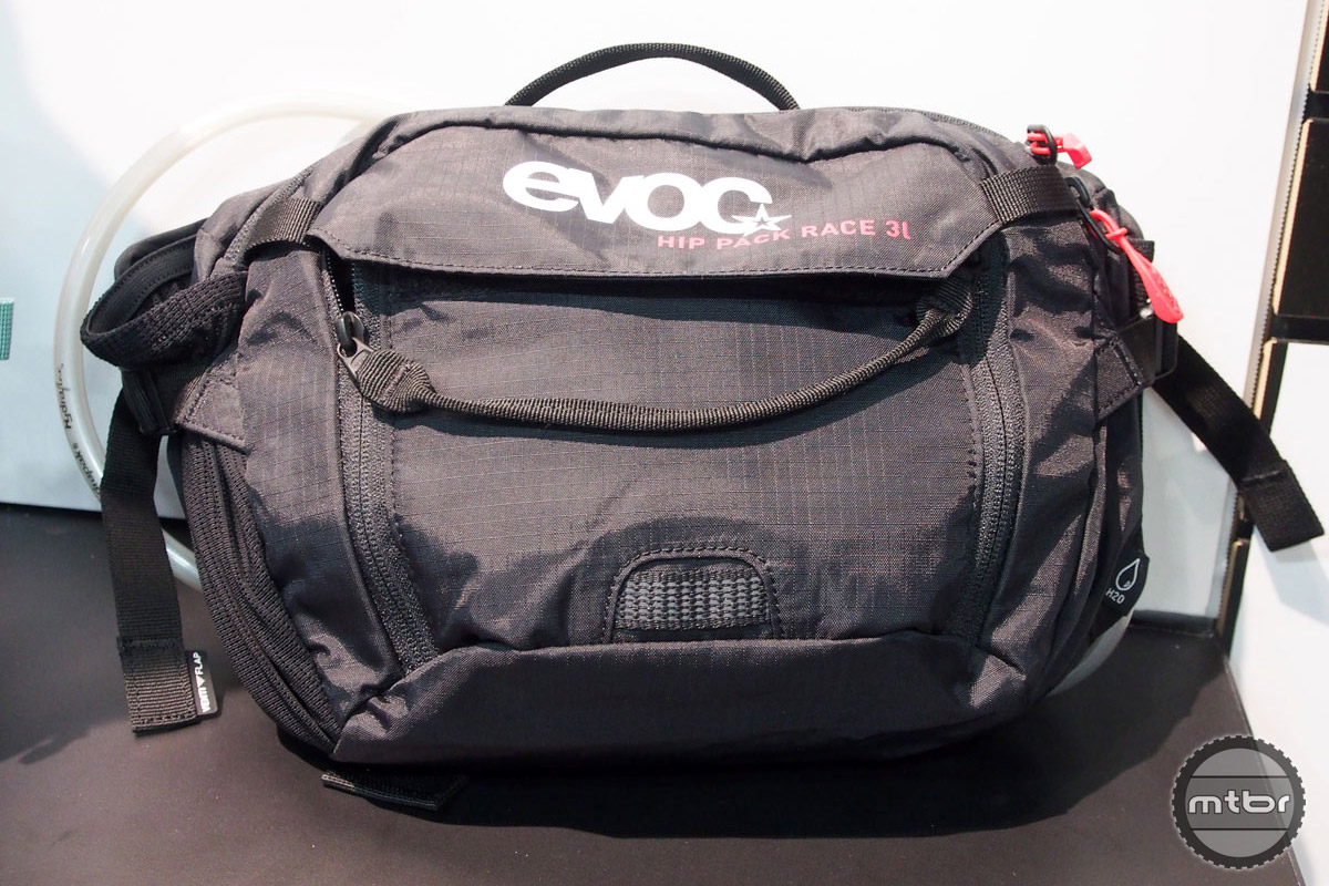 EVOC's new waist pack has a 3-liter capacity and can accommodate a 1-liter bladder.