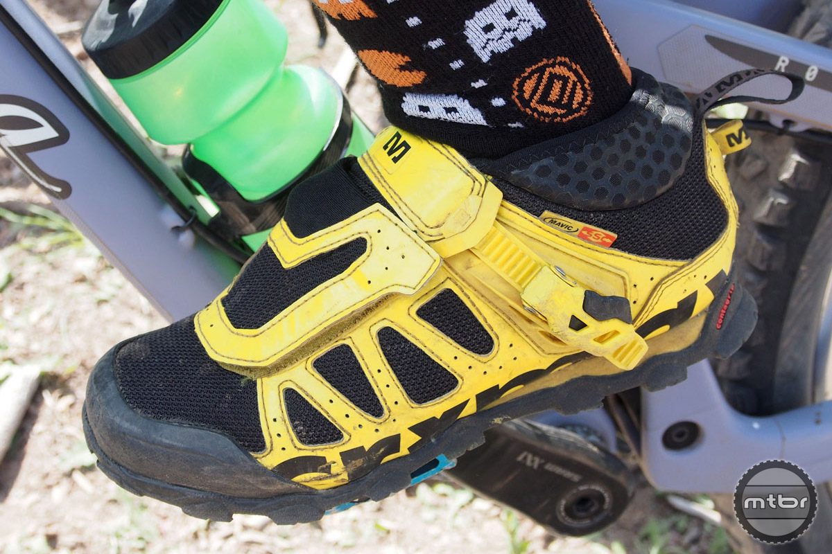 No mistaking these kicks, which feature Mavic's signature bright yellow colorway.